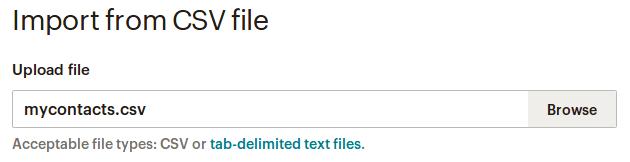 Избиране на CSV файла