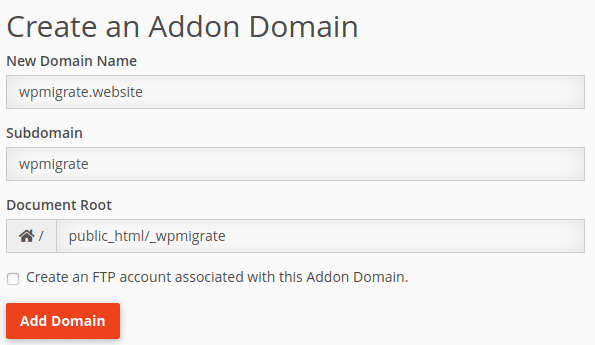 Интерфейс за конфигуриране на допълнителен домейн