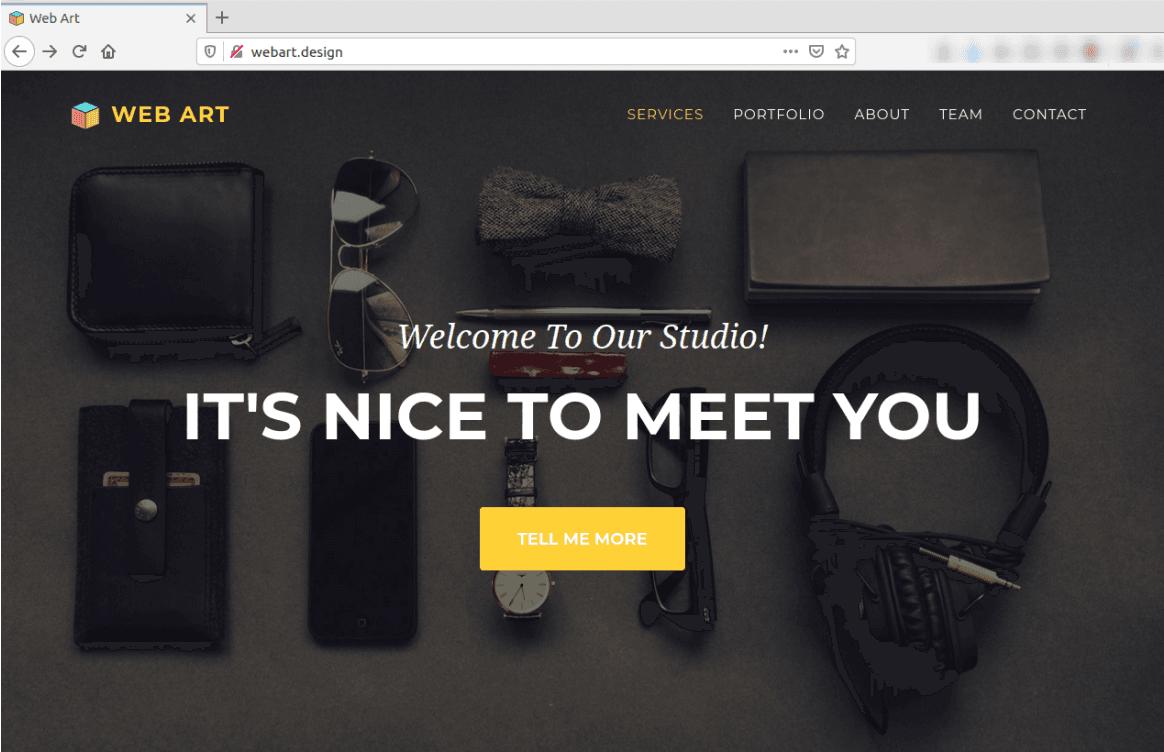 Изглед на Bootstrap 4 сайт в браузър