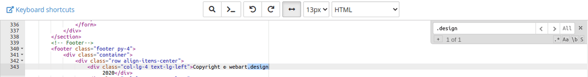 Смяна на домейна в изходния HTML код