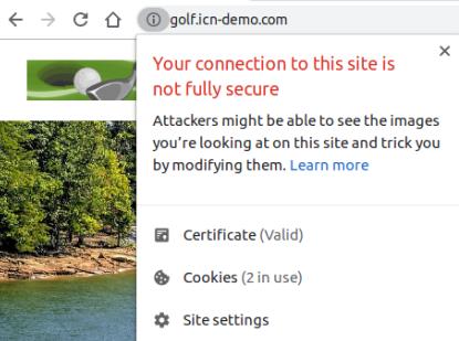 Предупреждение за смесено съдържание в Google Chrome