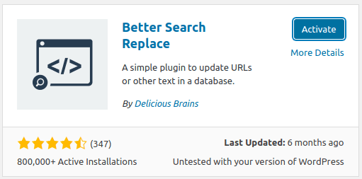 Инсталиране на Better Search Replace в WordPress