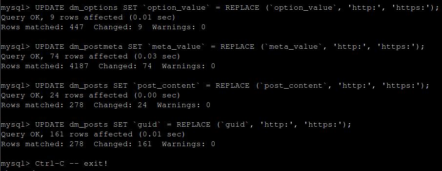 Изпълнение на MySQL заявка през SSH