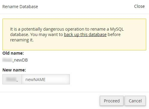 manage mysql databases users