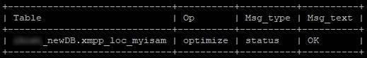 Оптимизиране на myisam таблици