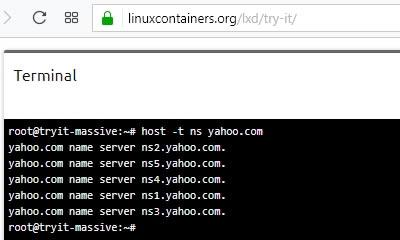 Резултат от запитване в linuxcontainers.org