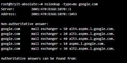 Запитване за мейл сървър mx
