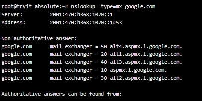 network nslookup