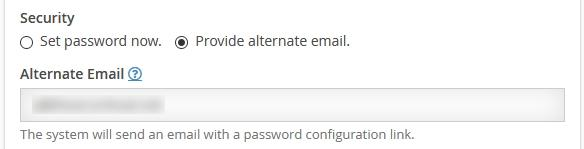 Посочване на алтернативен имейл