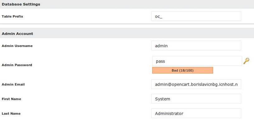 opencart softaculous cpanel