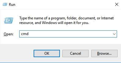 стартиране на Command Prompt в Windows