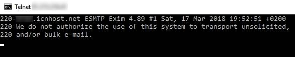 telnet open port check