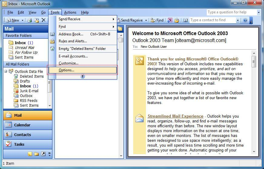 outlook 2013 account