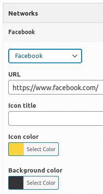 Настройване на икони с линкове към социални мрежи