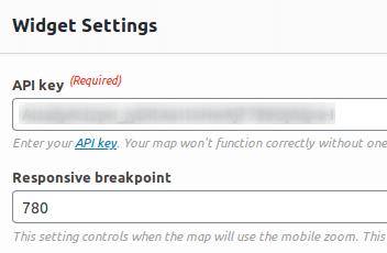 Поле за въвеждане на API key