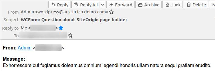 Получено съобщение от формуляра на сайта