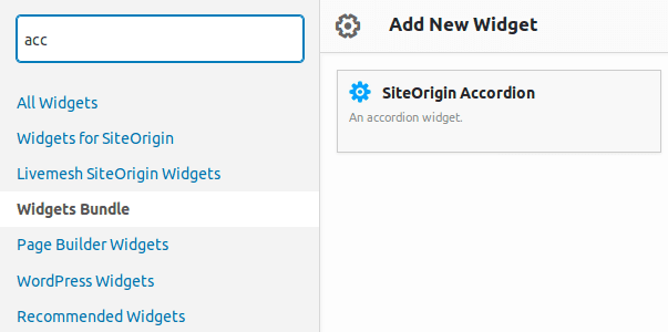 Достъп до SiteOrigin Accordion