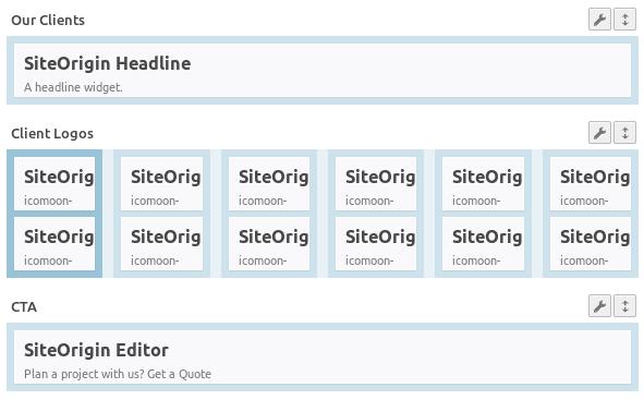 Структура на секция Client Logos