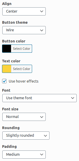 Настройване дизайна на бутона