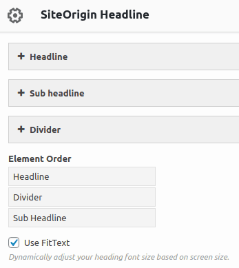 Изглед на SiteOrigin Headline