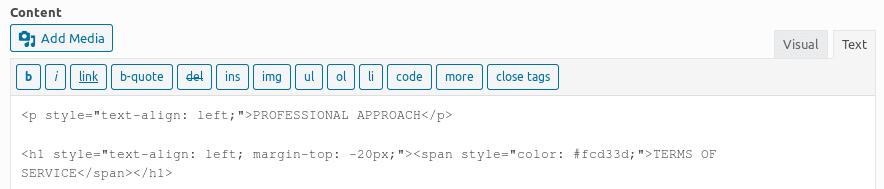 Въвеждане на CSS стил в редактора
