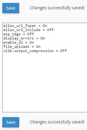 Изтриване на съществуващ запис в php.ini
