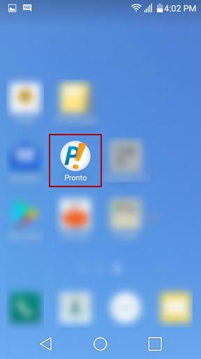 Икона за достъп до Pronto!