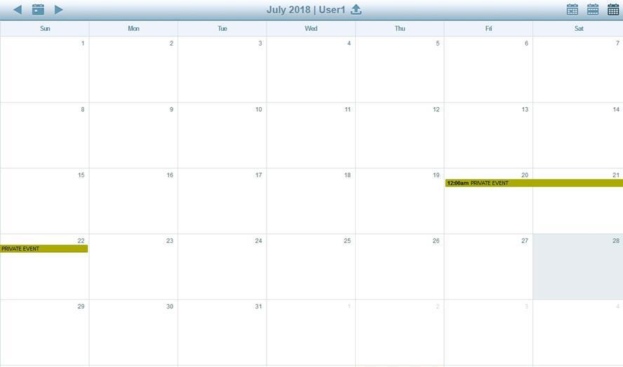 Активиране достъпа до календара през браузер