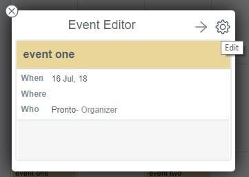 Редактиране на събитие