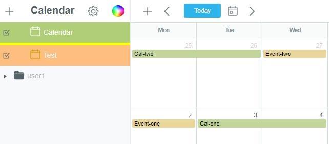 Показване на няколко календара