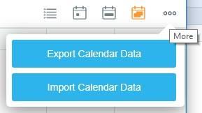 Експортиране на събития от календара