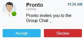 pronto webmail chat