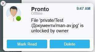 pronto file storage