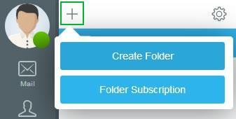 Меню Create Folder и Folder Subscription