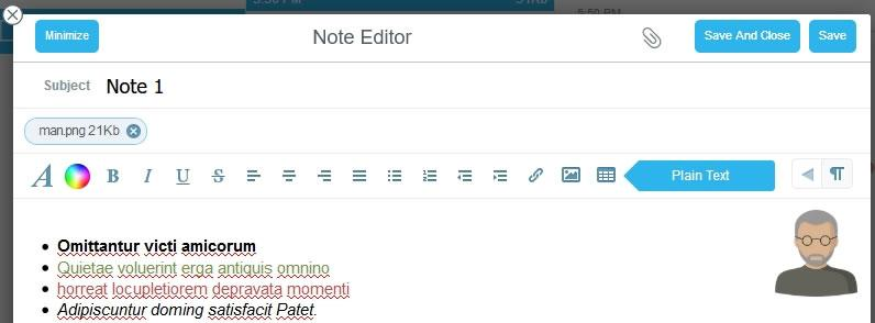 Панел за форматиране Rich formatting