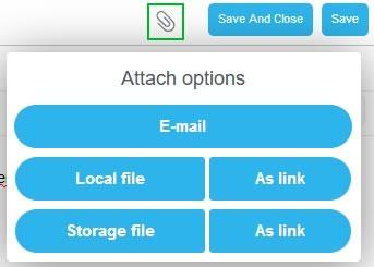 Опции за прикачване на файлове