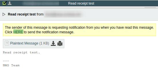 Линк за потвърждение за изпращане на обратна разписка