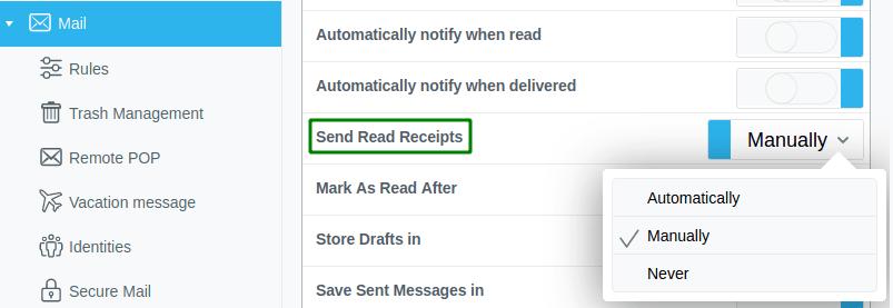 Активиране на Send Read Receipt в Pronto