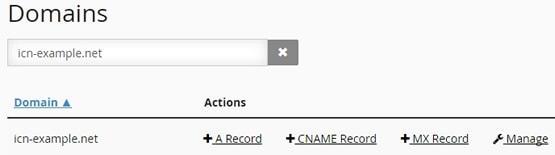 Опция за търсене в таблицата с домейни