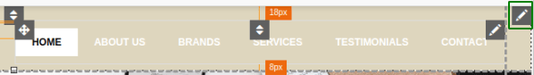 Структура на меню в навигационната лента