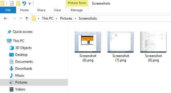 запазване на screenshot като файл