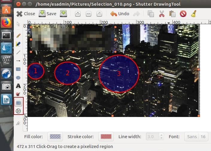 инструменти за редактиране на screenshot в Shutter