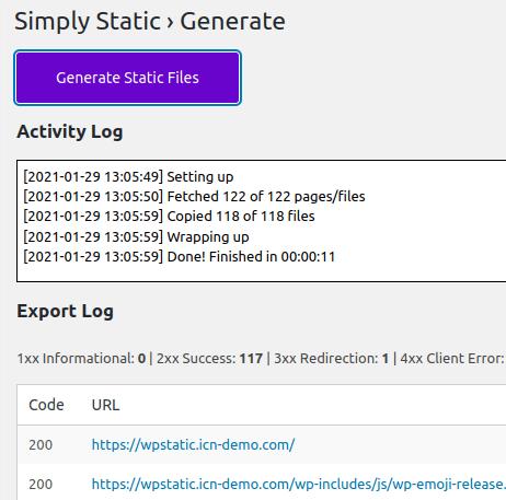 Генериране на статичните файлове