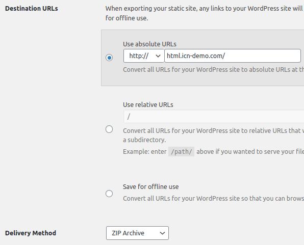 Избор на настройки за абсолютни URL адреси