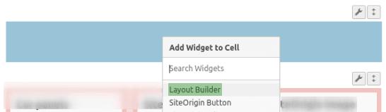 Импортиране на Layout Builder