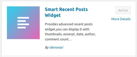 Инсталиране и активиране на Smart Recent Posts Widget