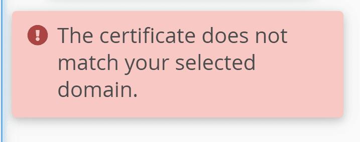 SSL mismatch warning