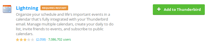 Бутон Add to Thunderbird