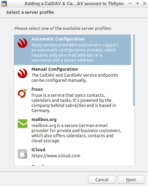 Настройка Automatic Configuration