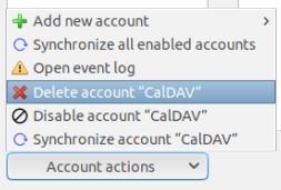 Изтриване на акаунт в TbSync